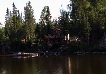 View of the cabin from the lake